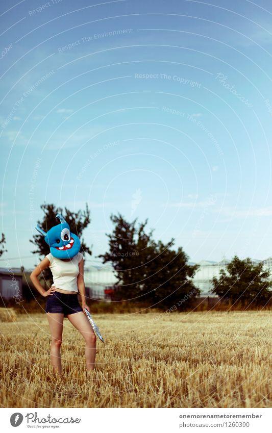 come on Jugendliche Erotik Kunst Feld ästhetisch warten Jugendkultur Model Langeweile Kunstwerk gestikulieren friedlich Waffe Monster begegnen Außerirdischer