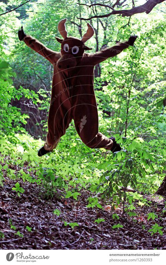 Waldbewohner Kunst Kunstwerk ästhetisch Waldboden Waldlichtung Waldrand Exhibitionismus Waldwiese Waldpflanze Waldspaziergang grün Elch Elchkuh Elchbulle
