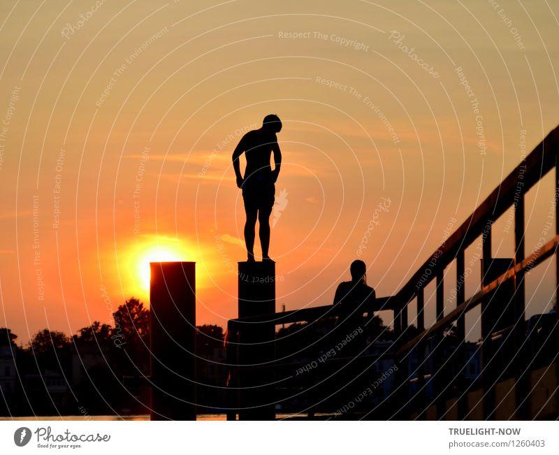 Sommer ist schön Schwimmen & Baden Abenteuer Freiheit Sonne maskulin feminin Jugendliche Körper 2 Mensch 13-18 Jahre Kind Wasser Himmel Schönes Wetter Seeufer
