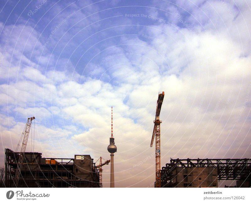 Berliner Nischel Berlin Baustelle Vergänglichkeit Denkmal Wahrzeichen Kran Berliner Fernsehturm Demontage Alexanderplatz Palast Palast der Republik