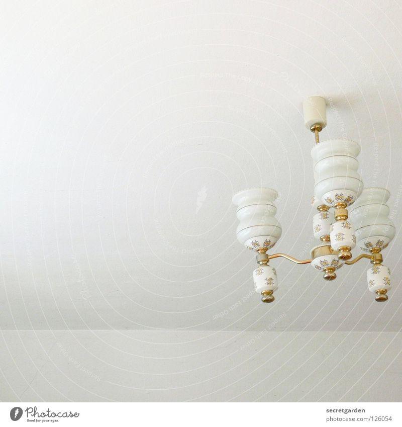bei oma alt weiß schön Pflanze Haus Erholung kalt Spielen Lampe hell Kunst Raum Beleuchtung Glas gold Wohnung