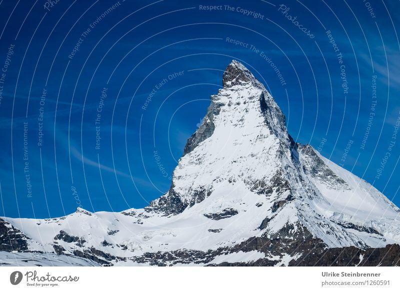 No matter how 3 Ferien & Urlaub & Reisen Tourismus Berge u. Gebirge Umwelt Natur Landschaft Himmel Sonnenlicht Frühling Sommer Schönes Wetter Schnee Matterhorn