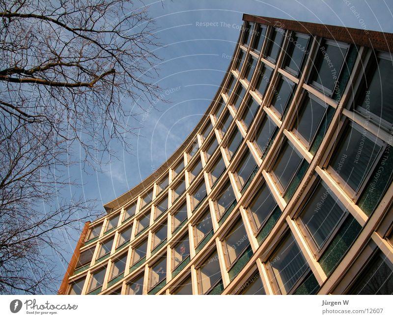 Bogen Himmel Fenster Gebäude Architektur hoch Fassade historisch Düsseldorf Vorderseite