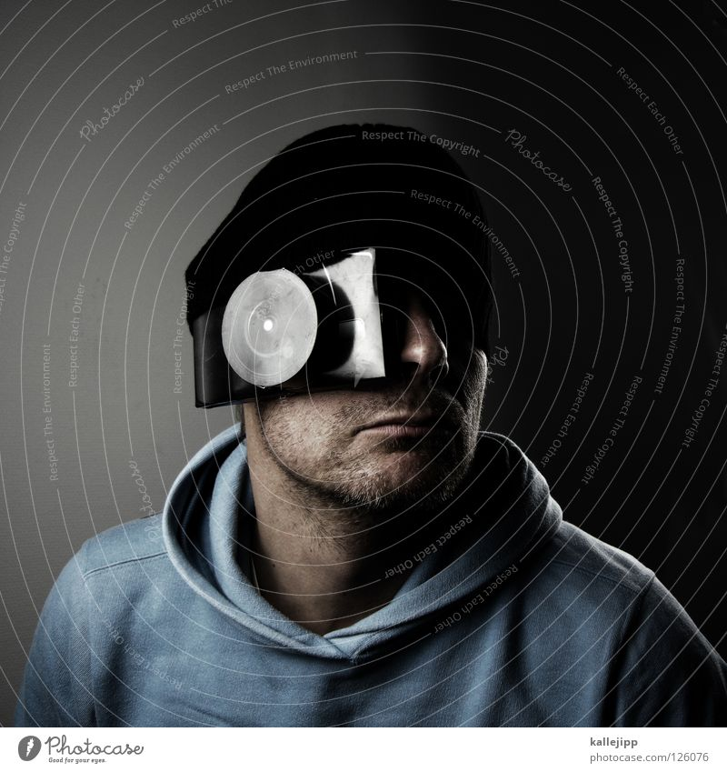 mutant Mensch Mann Kopf Fotografie Mund Design Nase verrückt neu Zukunft Lifestyle Informationstechnologie Fotokamera Kreativität Student Idee