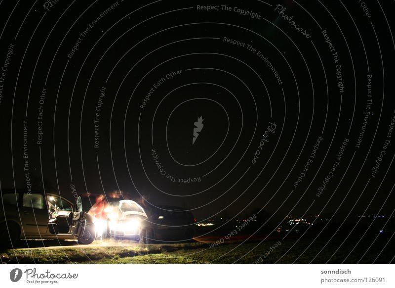 Batterie leer ... Mann Freiheit PKW Hilfsbereitschaft Schönes Wetter Eile Himmelskörper & Weltall sternenklar