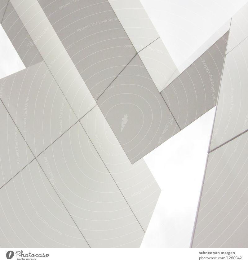 ecken Stadt weiß Architektur Gebäude fliegen Horizont Fassade Häusliches Leben modern ästhetisch Idee einzigartig Bauwerk Balkon Sehenswürdigkeit Reichtum
