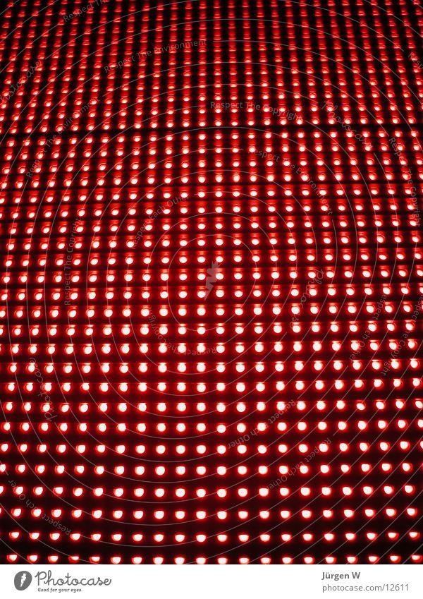 Red LED 1 rot Leuchtreklame Licht Muster Elektrisches Gerät Technik & Technologie Leuchtdiode shine red light rows Reihe