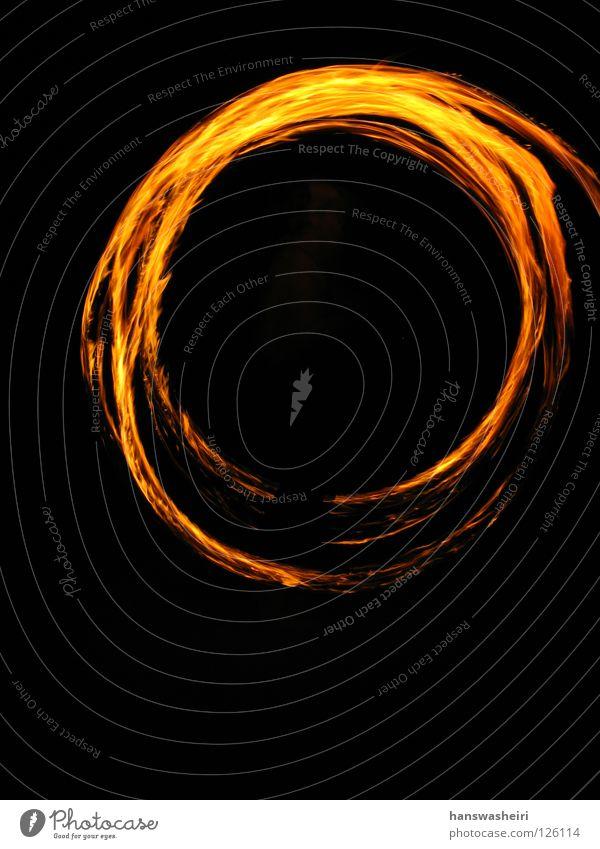 Feuerringe Nacht dunkel rund schwarz gelb Freizeit & Hobby Brand Kreis orange Pois drehn Flügel
