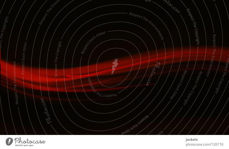 Floating Lampe II Freude schwarz gelb dunkel Bewegung Linie Kurve Drehung Wellenlinie