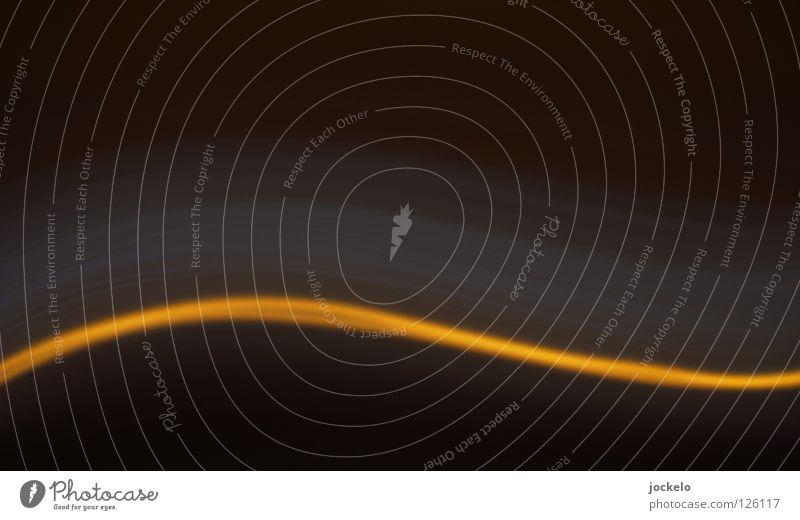 Floating Lampe I Freude schwarz gelb dunkel Bewegung Linie Kurve Drehung Wellenlinie