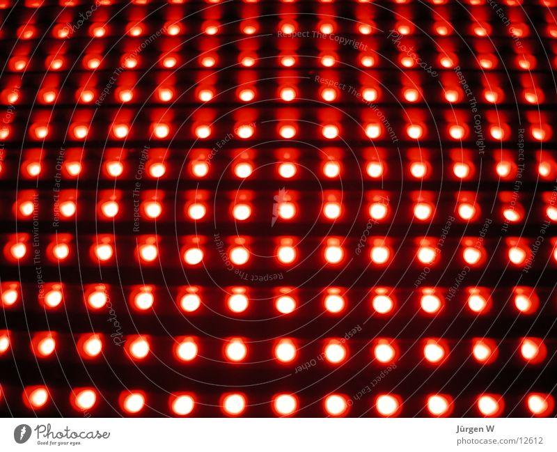 Red LED 2 rot Leuchtreklame Licht Muster Elektrisches Gerät Technik & Technologie Leuchtdiode light Reihe rows shine