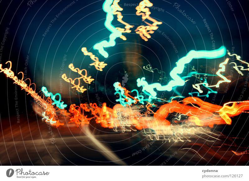 Grün, weiter gehts ... Himmel schön Ferien & Urlaub & Reisen Ferne Straße Farbe Leben Landschaft Bewegung Erde Linie Zeit Horizont Ausflug Verkehr Aktion