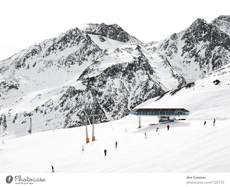 drobn aufm berg Himmel Ferien & Urlaub & Reisen weiß Landschaft Winter Berge u. Gebirge Schnee Sport Alpen Schneebedeckte Gipfel Skifahren Skigebiet Skifahrer