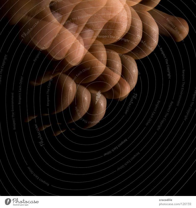 faustdick Hand dunkel Bewegung Finger einzigartig durchsichtig Fleisch Faust spukhaft Fingerabdruck