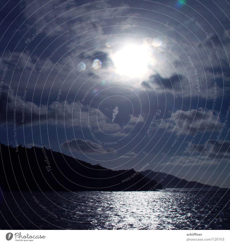 Freiburg am Meer Wasser Sonne Freude Strand Ferien & Urlaub & Reisen Wolken Ferne Erholung Berge u. Gebirge See Landschaft Wasserfahrzeug Wellen Küste Horizont