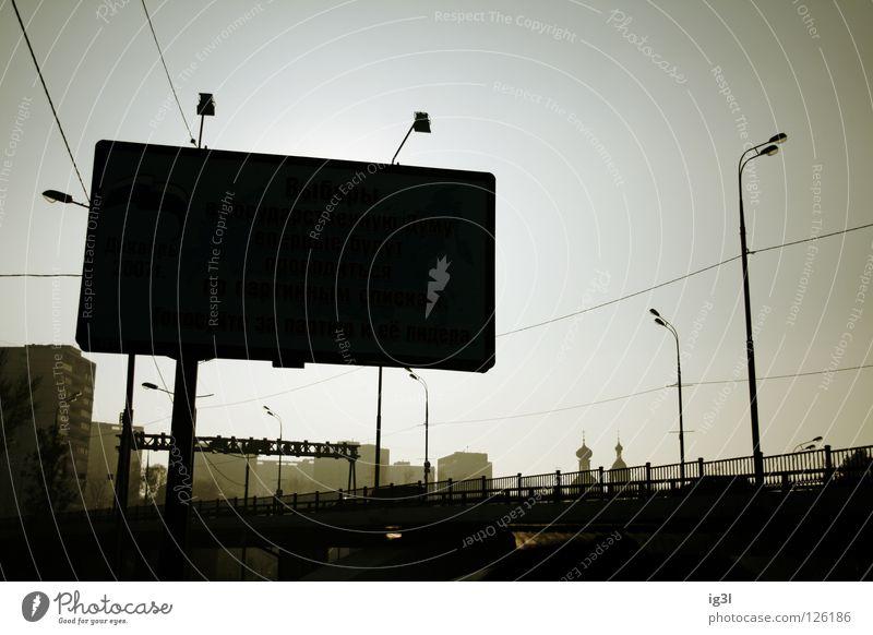 beauty of dirt Moskau Smog Fahrzeugbau Schilderwald Laterne Sonnenuntergang Osteuropa Stadt rot Weltmacht Demographie Lichtstimmung Lichteinfall Klimawandel