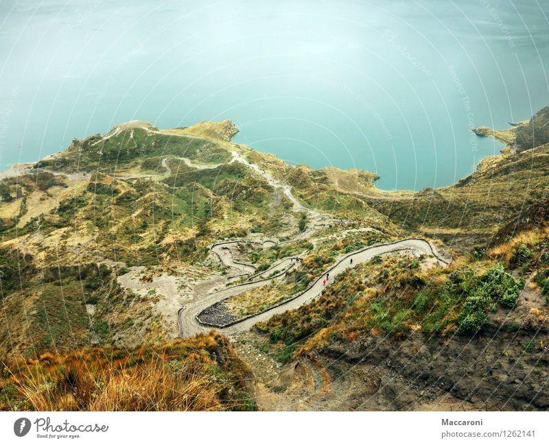 Gaaaanz nach unten Ferien & Urlaub & Reisen Sommer Wasser Sonne Erholung Landschaft Ferne Umwelt Berge u. Gebirge Freiheit See Felsen Tourismus Idylle Erde