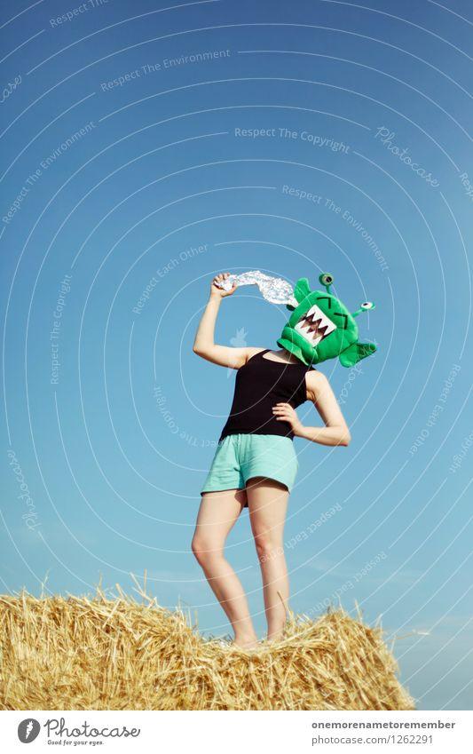 BANG BANG grün Freude Kunst stehen verrückt ästhetisch Kunstwerk Kostüm Karnevalskostüm Monster Selbstmord spaßig Pistole Spaßvogel Außerirdischer Laser