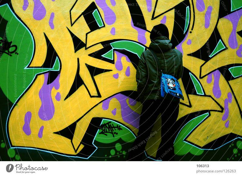 MUCH MORE ADDICTED Mensch Jugendliche grün Stadt Mädchen Farbe gelb Straße Graffiti Bewegung Stil Kunst Hintergrundbild rosa warten frisch