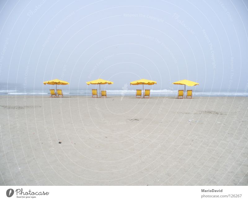 Summer Yellow Sommer Strand Länder sea chair parasol sun place country Sand