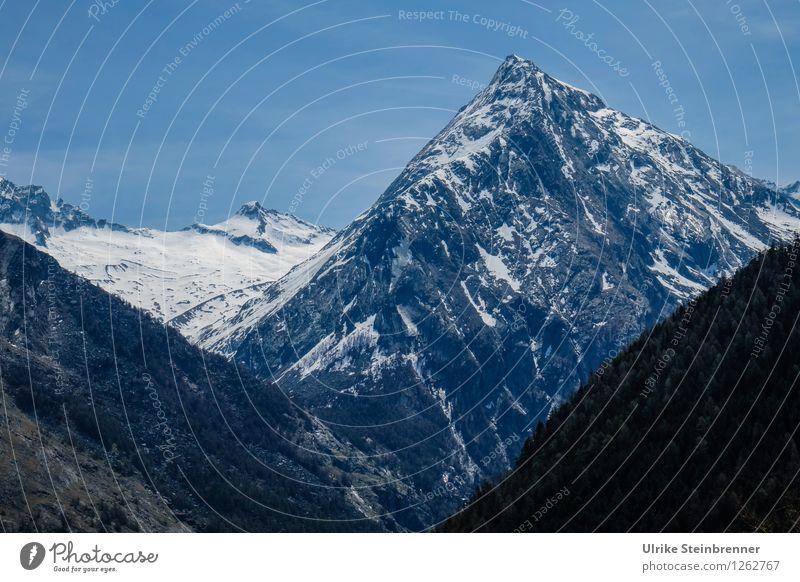 Kalt | da ganz oben Ferien & Urlaub & Reisen Tourismus Ausflug Berge u. Gebirge wandern Umwelt Natur Landschaft Wolkenloser Himmel Frühling Sommer
