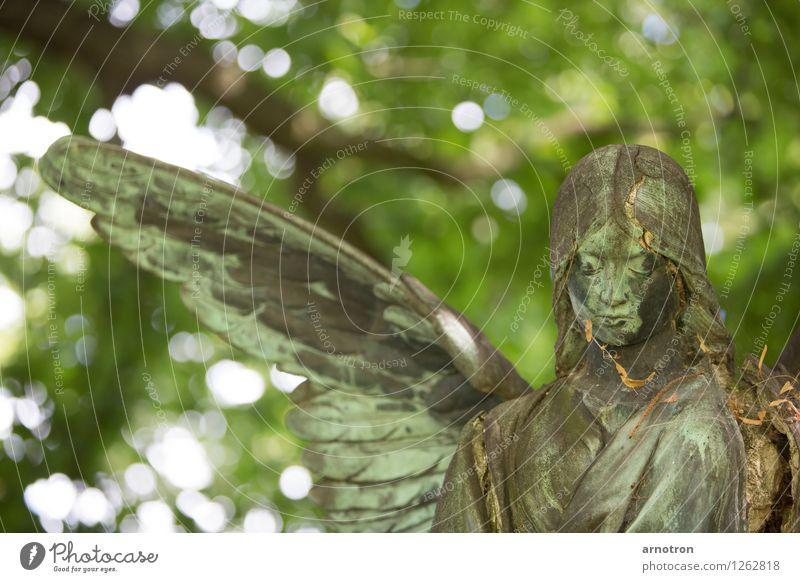 broken angel 2/2 Mensch Sonne Wald Gefühle Tod Haare & Frisuren Kopf Hamburg Trauer Engel Skulptur Friedhof