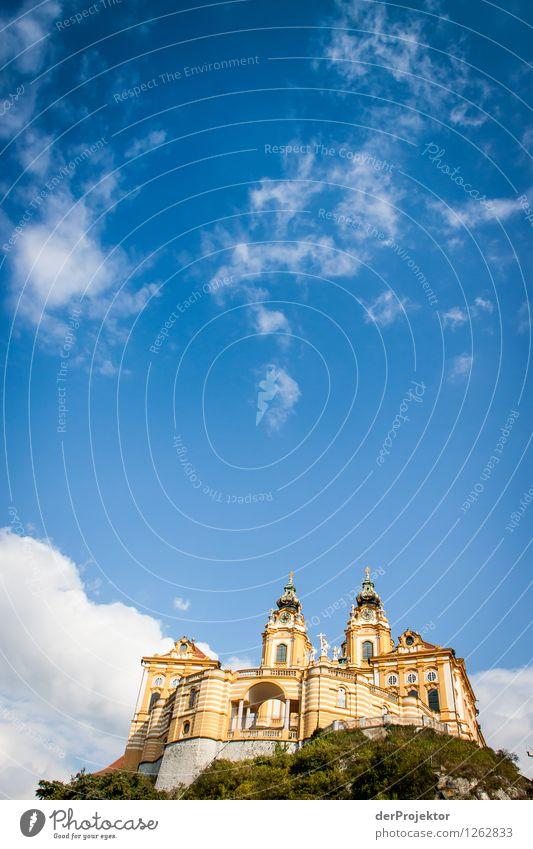 Klosterhimmel Himmel Ferien & Urlaub & Reisen Himmel (Jenseits) ruhig gelb Architektur Gebäude Religion & Glaube außergewöhnlich Tourismus Kraft Ausflug Kirche Turm Hoffnung Hügel