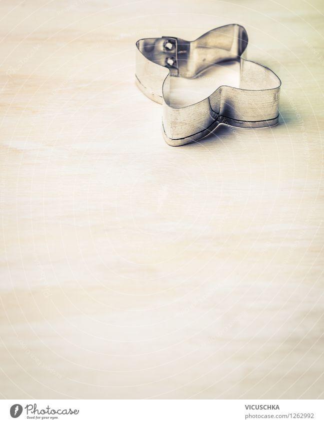 Plätzchen Ausstechform auf dem Holztisch Weihnachten & Advent Haus Stil Hintergrundbild Feste & Feiern Metall Design Ernährung Tisch Kochen & Garen & Backen