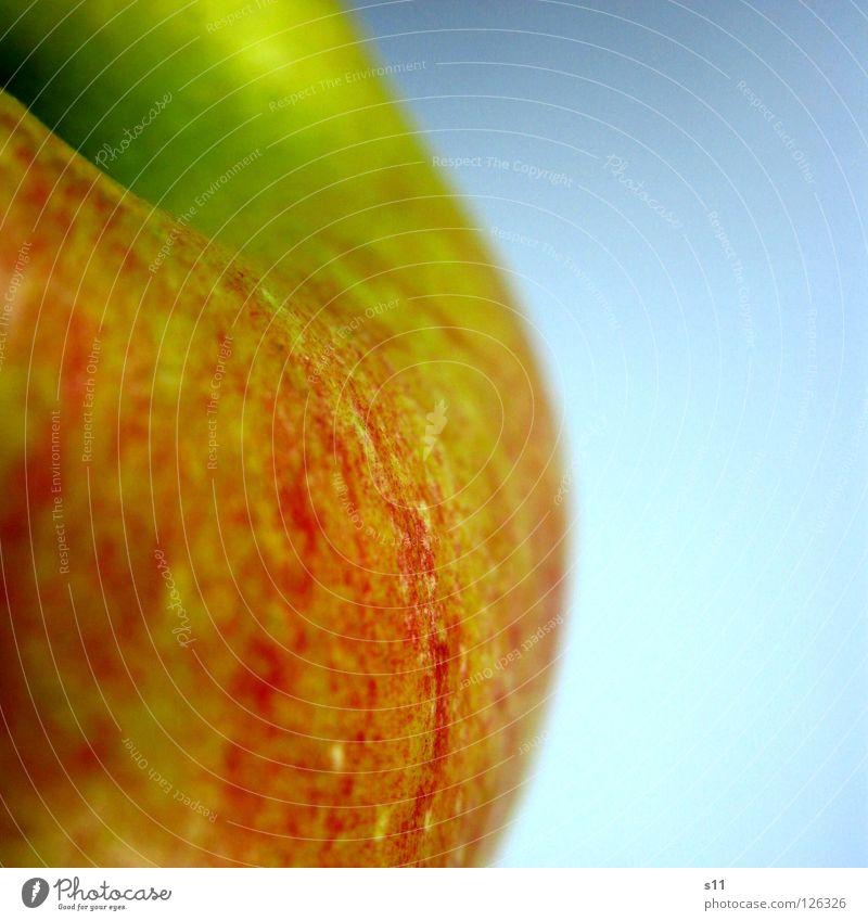 Apple II Natur grün rot gelb Ernährung Gesundheit Frucht Haut süß rund Apfel Wut Stengel Glätte saftig Vitamin