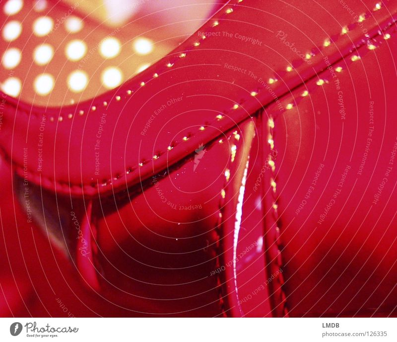 wieder einmal ROT weiß rot gelb Schuhe rosa Bekleidung Punkt Leder Fleck Nähen Naht Treppenabsatz Sandale