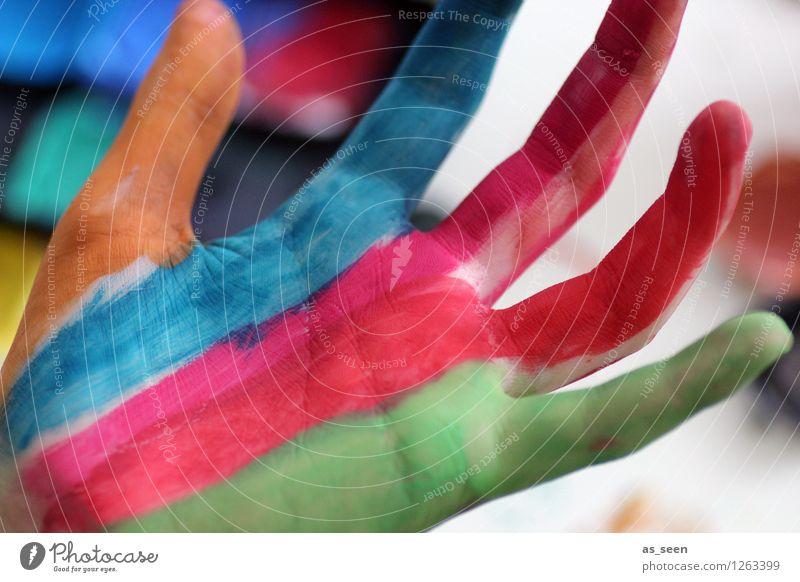 Malen Design exotisch Freude Leben Basteln Modellbau Dekoration & Verzierung Karneval Kindererziehung Bildung Kindergarten Schulkind Schüler Hand Finger