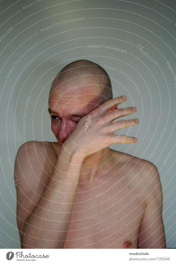 WEINEN MACHT GLÜCKLICH Mensch Jugendliche Mann nackt Hand Einsamkeit ruhig Gesicht kalt Auge Leben Traurigkeit Gefühle Bewegung Stil Lifestyle