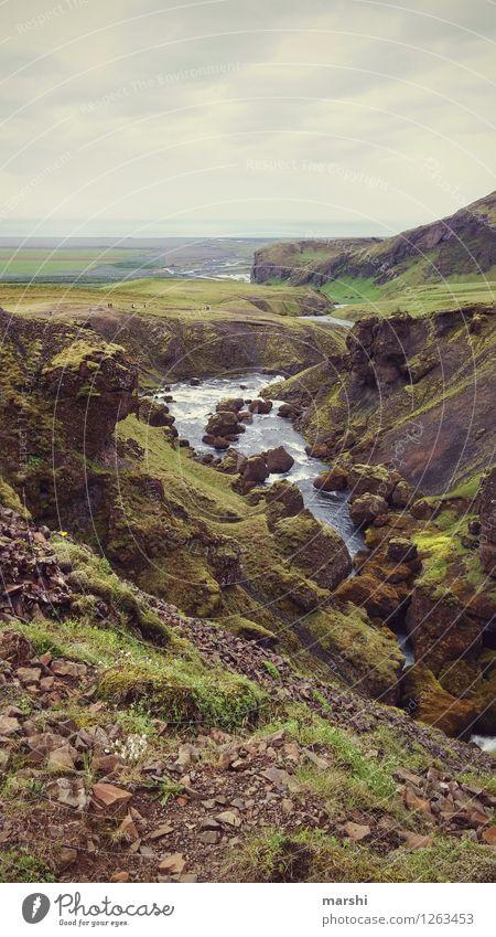 andere Welt Natur Landschaft Pflanze Tier Urelemente Erde Wasser Wolken Hügel Felsen Berge u. Gebirge Gletscher Schlucht Bach Fluss Wasserfall Stimmung Island