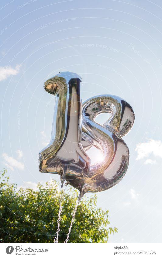 Feierlaune 18-30 Jahre Luftballon Geburtstag Erwachsene Glück Feste & Feiern Party Partygast Autofahren Prüfung & Examen Mündig Stimmrecht Alter Zahl
