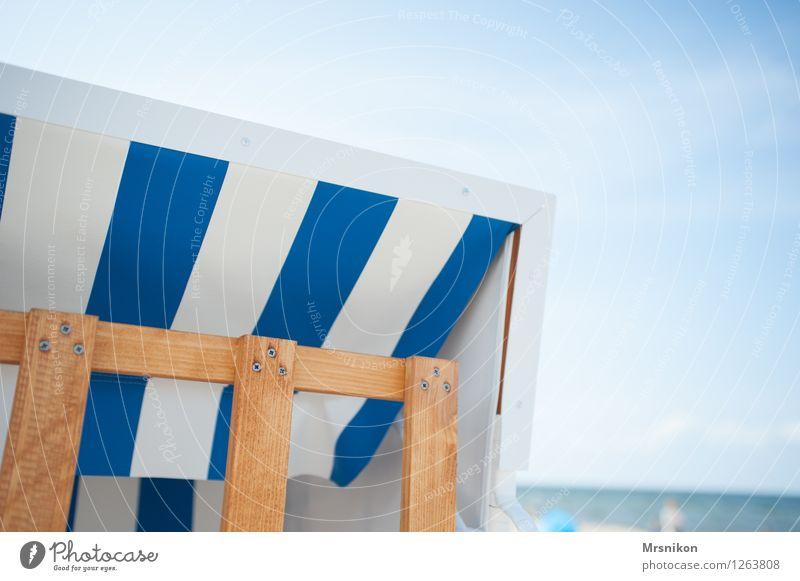 Ostsee Ferien & Urlaub & Reisen Ferne Sommer Sommerurlaub Strand Meer Wellen Holz Wasser Schwimmen & Baden Strandkorb usedom maritim erholen Pause Erholung