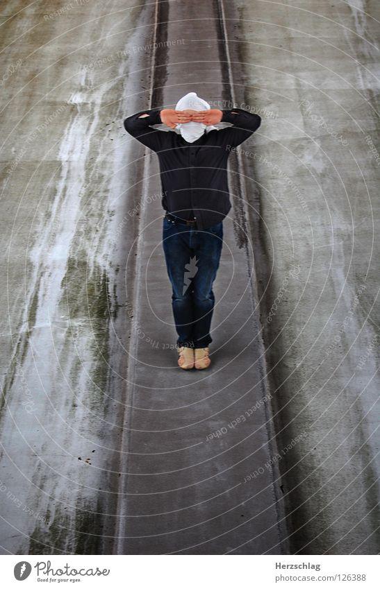 Stand Mann 2 Hand grau Kommunizieren Reihe Langeweile links rechts blind Parkdeck Photo-Shooting Turban Landkreis Fulda