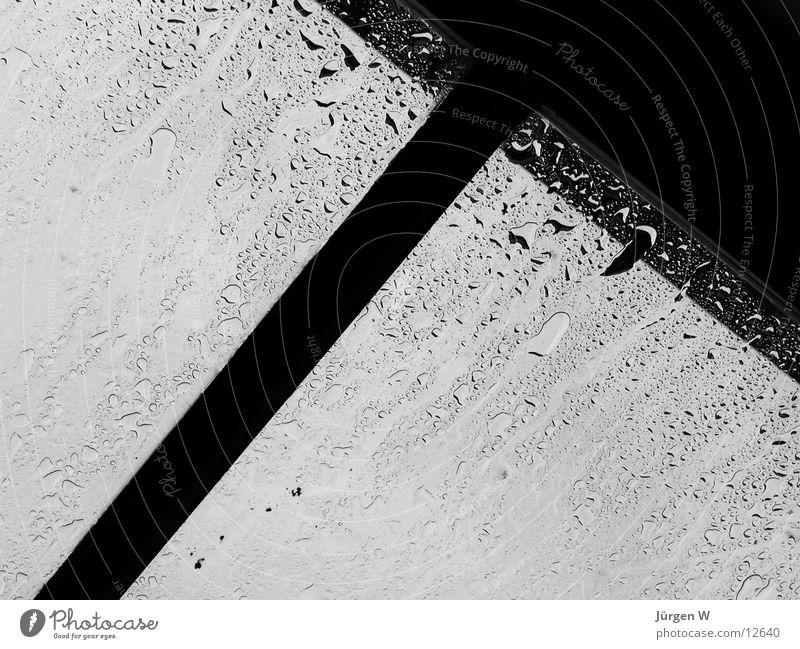 Regentropfen Fenster kalt nass feucht grau dunkel Herbst Fototechnik Wasser Glas rain raindrops window cold wet water glass fallen autumn darkly