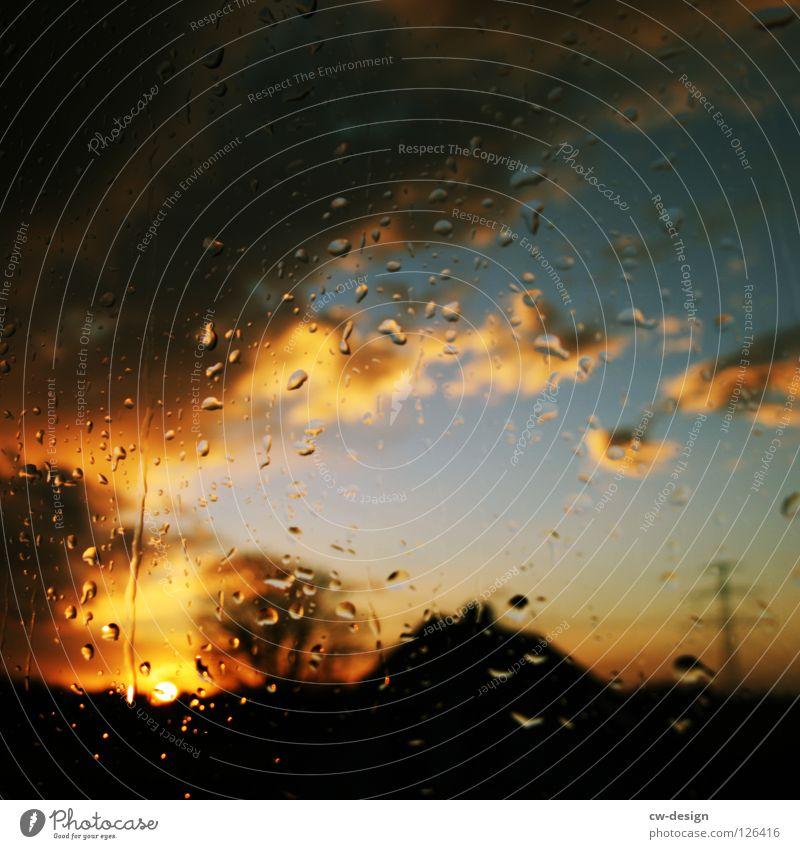 """und ich frag: """"was? waas? waaas?"""" Fenster Regen Stimmung Sturm ruhig Strommast dunkel schwarz April Wolken Nacht mehrfarbig Sehnsucht Einsamkeit Fernweh Baum"""