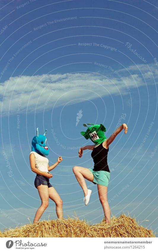 Trinity Freude lustig Kunst ästhetisch Jugendkultur Gemälde Gewalt kämpfen Kunstwerk Monster Szene spaßig schlagen Spaßvogel Außerirdischer außerirdisch