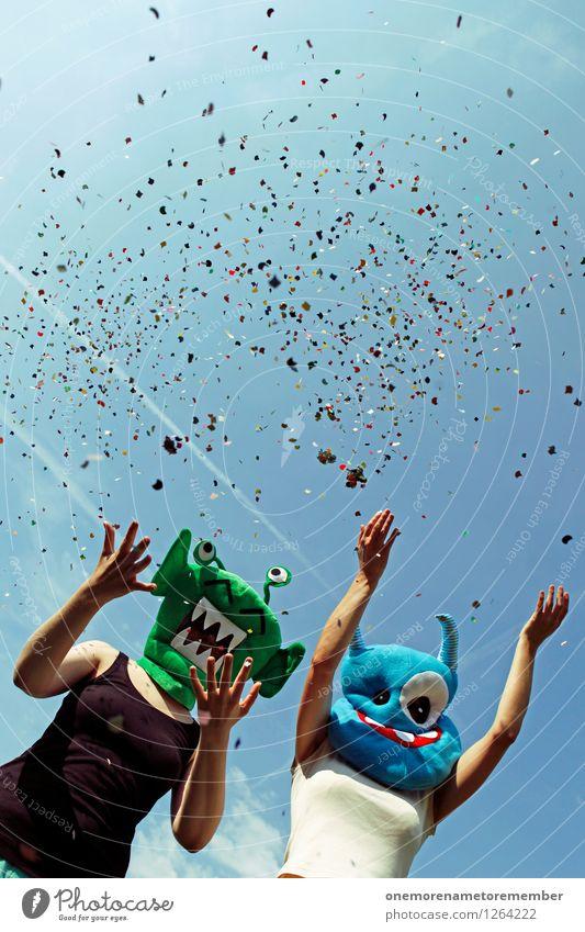 Dreckmacher! Kunst Kunstwerk Abenteuer ästhetisch Party Partystimmung Partyservice Konfetti Freude spaßig Spaßvogel Spaßgesellschaft Karneval Karnevalskostüm