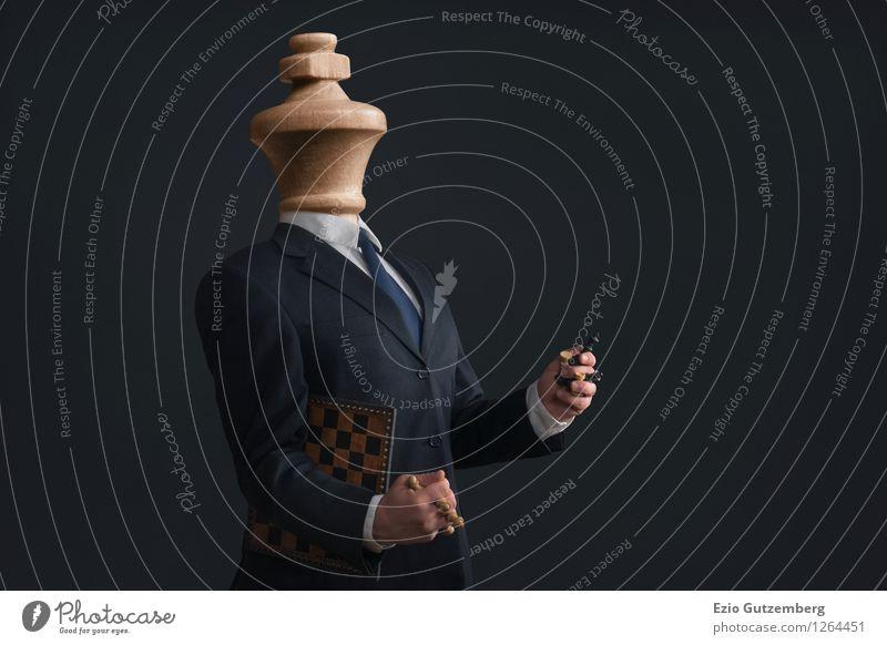 Der Narzisst Beruf Büro Business Mensch Mann Erwachsene 1 30-45 Jahre Hemd Anzug Krawatte machen Aggression außergewöhnlich Coolness dunkel Ekel Erfolg