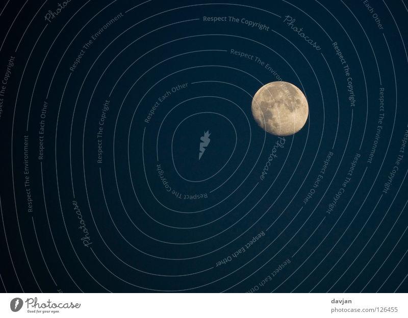Mond schön Winter schwarz Lampe dunkel hell Himmelskörper & Weltall vertraut Vollmond Vulkankrater