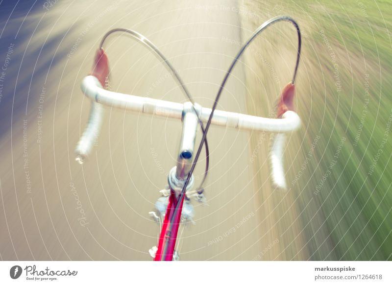 urbane mobilität - retro hipster rennrad Stil Lifestyle Freizeit & Hobby Design elegant Geschwindigkeit Fahrradfahren Fitness sportlich trendy