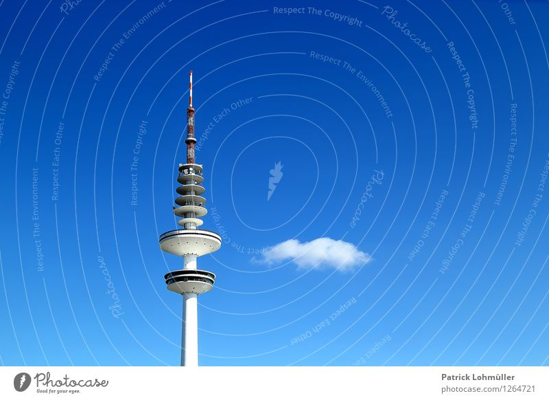 Fernsehturm Hamburg Medienbranche Telekommunikation Informationstechnologie Architektur Fernsehen Umwelt Himmel Wolken Schönes Wetter Deutschland Europa Stadt