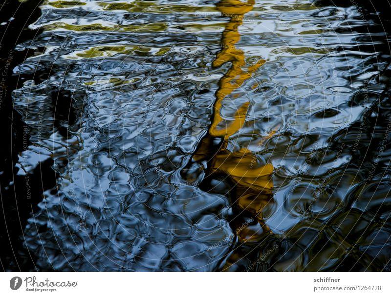 Spreedorado | Wasserzeichen Fluss blau braun schwarz Wasseroberfläche Wasserspiegelung Reflexion & Spiegelung Strukturen & Formen Spreewald Dahme-Spreewald