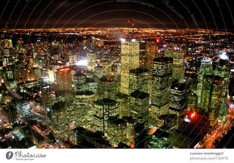 haltbar bis: siehe Oberseite Kanada Haus gelb grün Nacht Stimmung Toronto Panorama (Aussicht) Skyline hochhäuse Schönes Wetter geschlossen Licht Abend groß