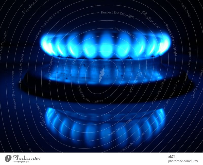 Gasflamme blau Küche Flamme Raum