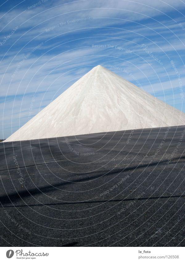 Salz-Berg Himmel weiß blau Farbe kalt Schnee Berge u. Gebirge Freiheit obskur Salz