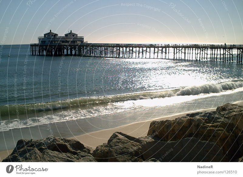 Confined Illimitability Strand Ferien & Urlaub & Reisen Sand Küste USA Frieden Blauer Himmel Kalifornien Los Angeles Highway One