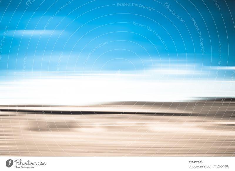 vielfältig | Himmel und Erde Ferien & Urlaub & Reisen blau Sommer Landschaft Ferne Traurigkeit Freiheit braun Horizont träumen Feld Klima Vergänglichkeit